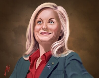 Parks and Recreation Leslie Knope art print
