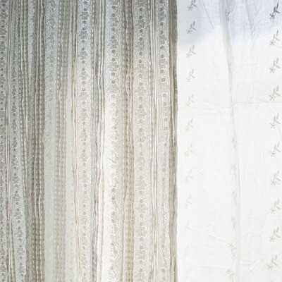 Lace curtains-Cotton-W55