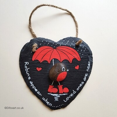 Robin on a Slate Heart