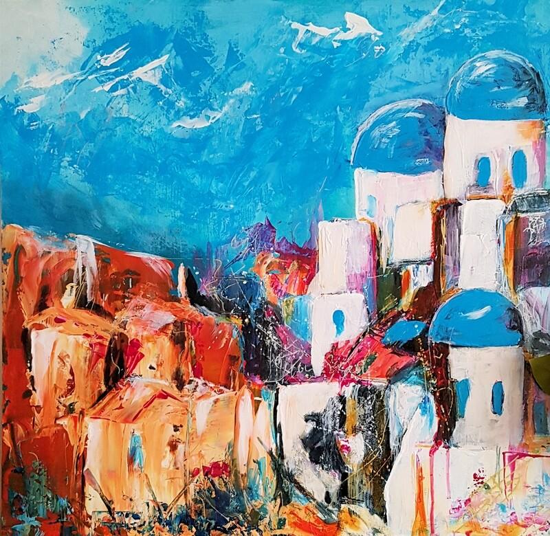 Santorini Greece 61 x 61 cm