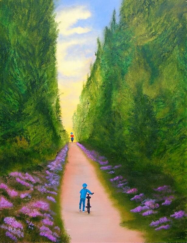 Wait for me! 46 x 61 cm