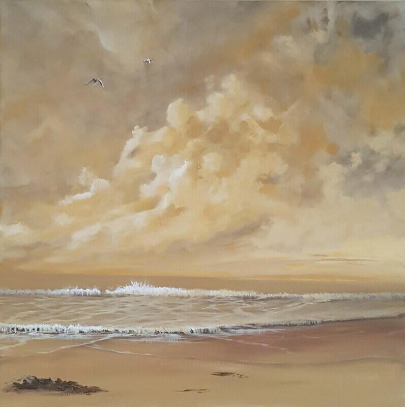 On Golden Sands 61 x 61 cm