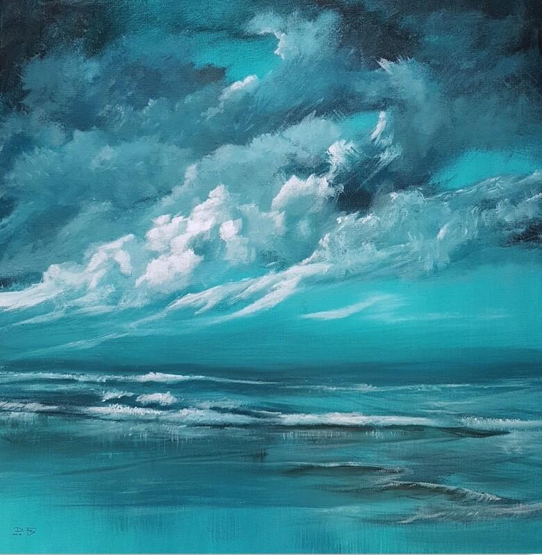 Turquoise Tide 61 x 61 cm