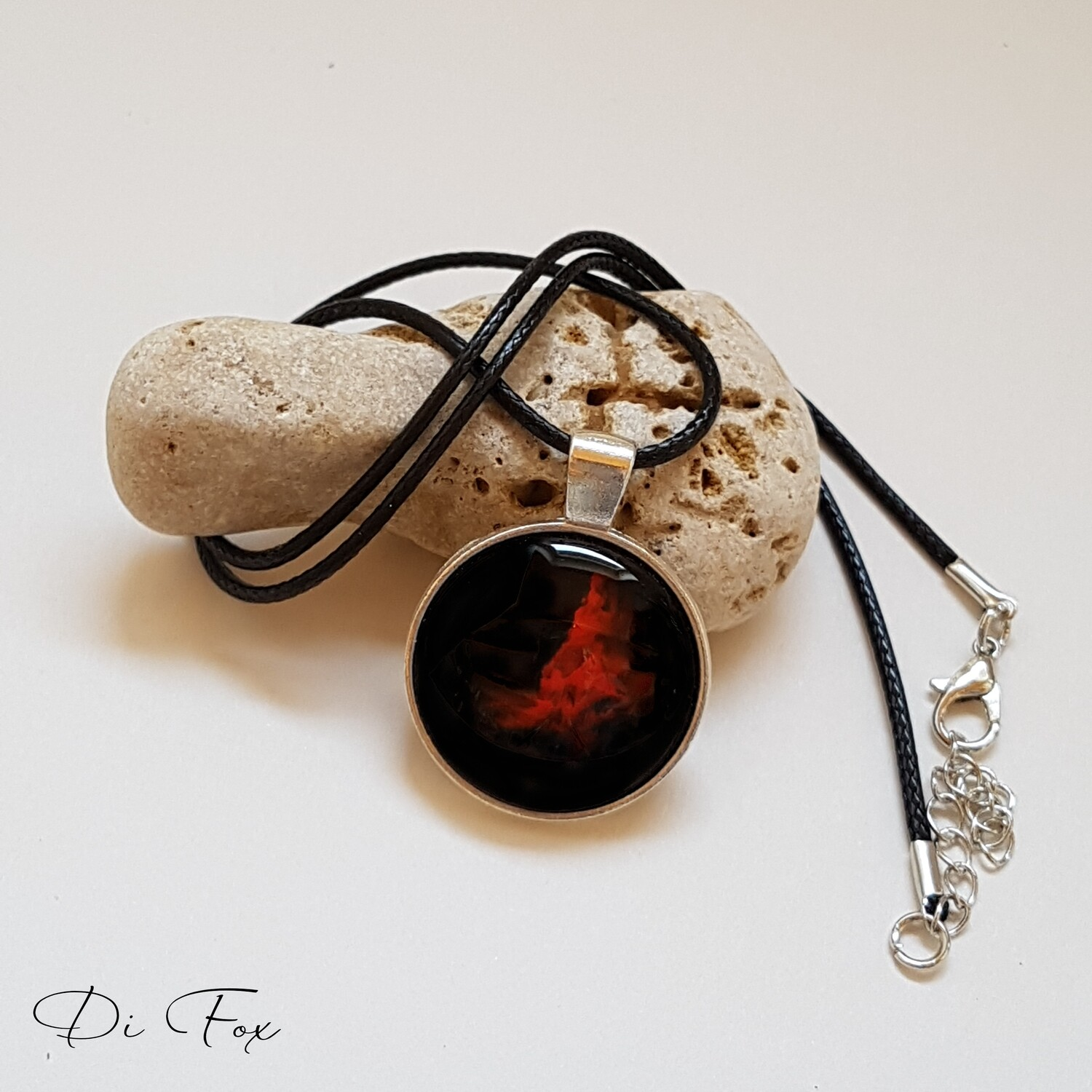 Red and Black pendant necklace