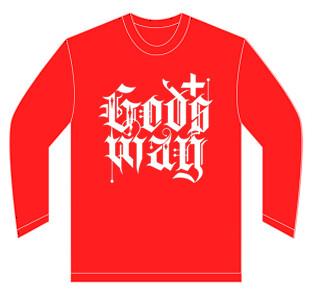 Red GODS+WAY Long Sleeve Shirt