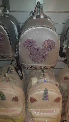 Girls grey mickey mouse backpack
