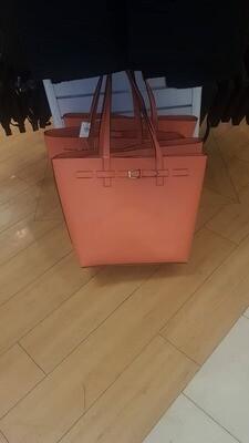 Ladies' handbag - peach