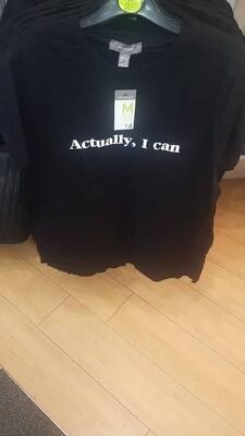 Ladies' black tshirt