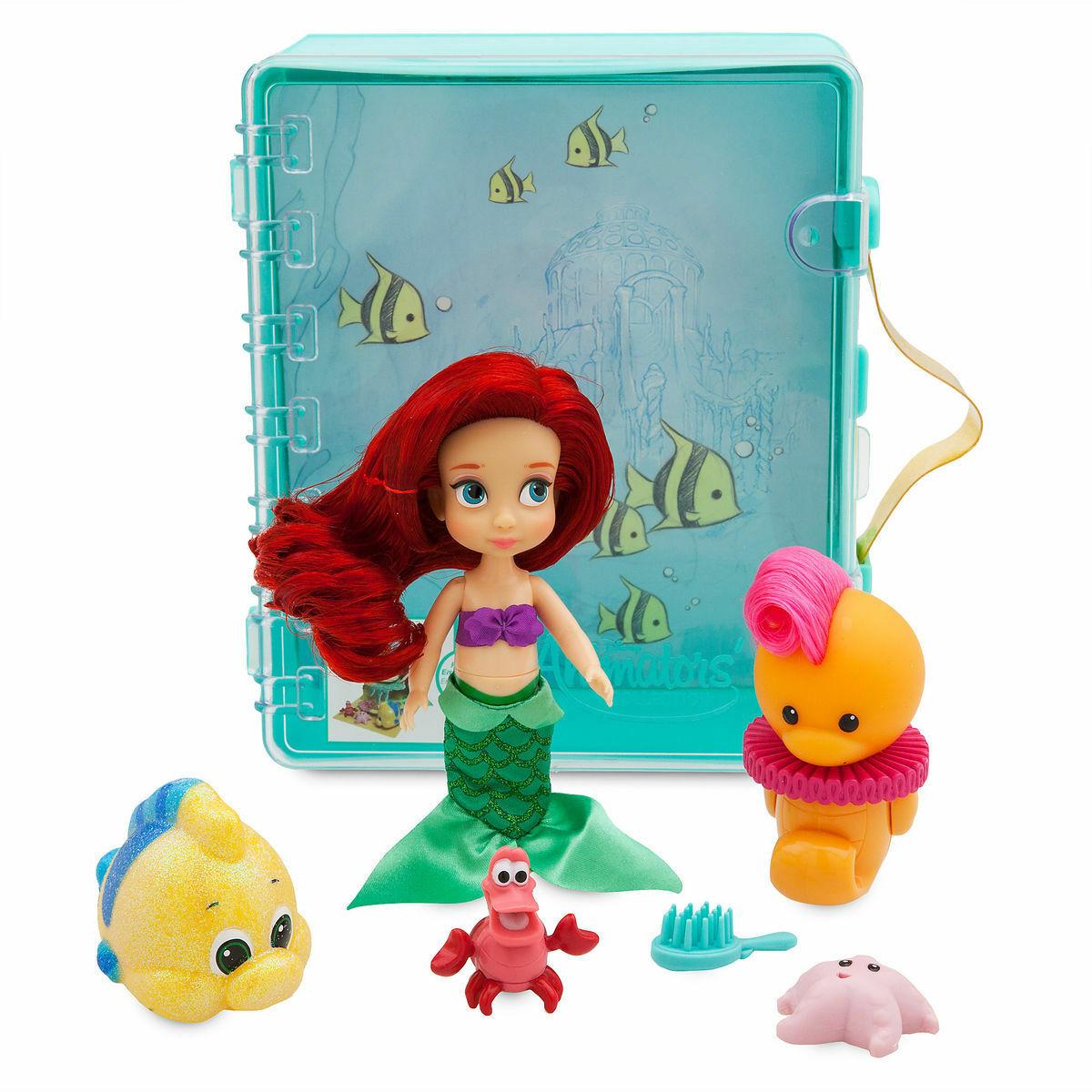 Disney Authentic Animators Collection Ariel Little Mermaid Mini Doll Play Set