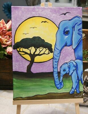 Blue Elephants                                                                April 7 & 21, 6 - 9 pm