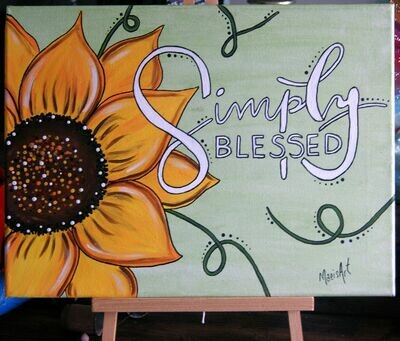 Simply Blessed - A Zoom Virtual Paint Party - May 31