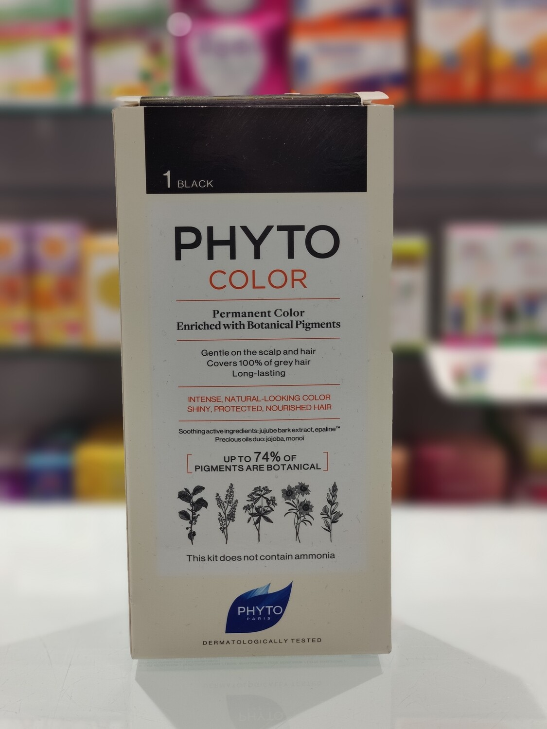 PHYTOCOLOR COLOR PERMANENTE - Color de cabello : 1 Negro