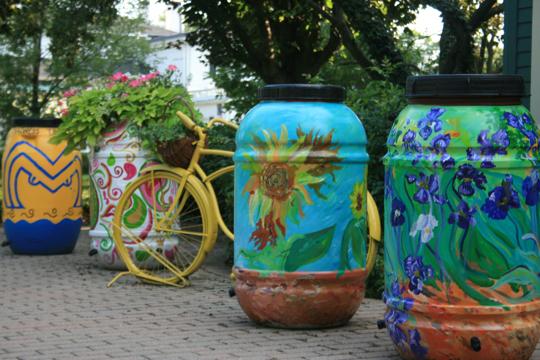 Custom Painted Rain Barrel