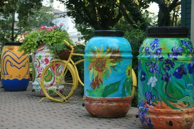 Custom Painted Rain Barrel