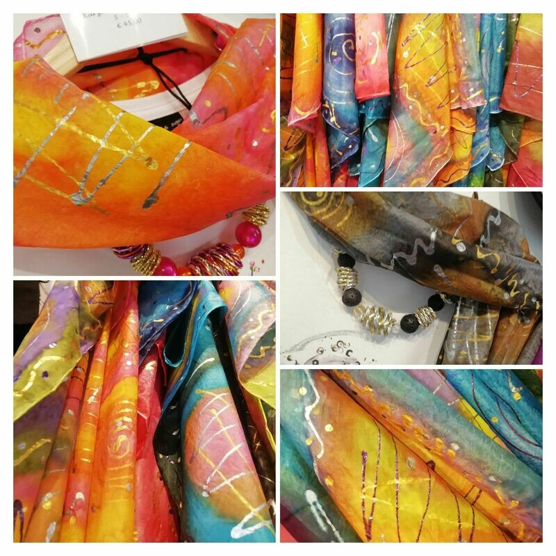 Scarfs Hand painted  by Corinna Kirchhof - Different colors