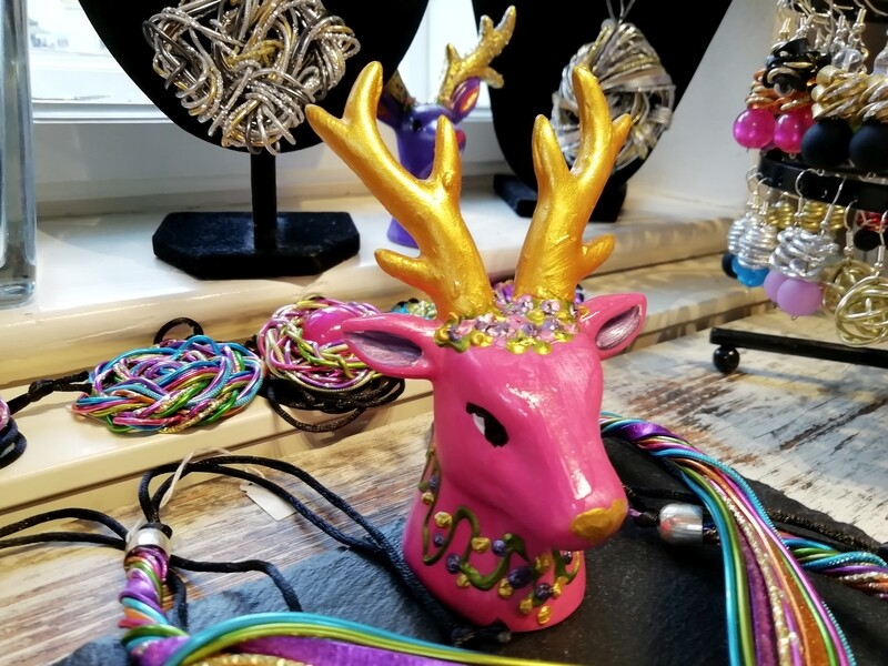 Colorful deer - Hand painted by Corinna Kirchhof