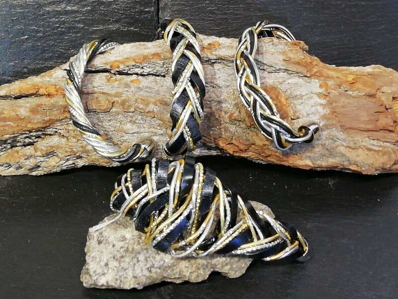 Bracelet silver / gold / black small or big - Handmade  by Corinna Kirchhof