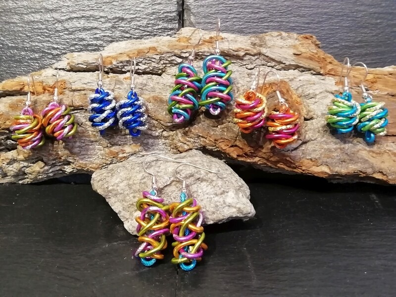 Earrings multicolor - Handmade  by Corinna Kirchhof