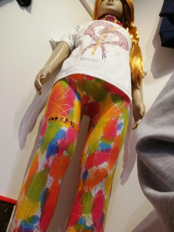 Leggings for kids / girls white - Hand painted by Corinna Kirchhof