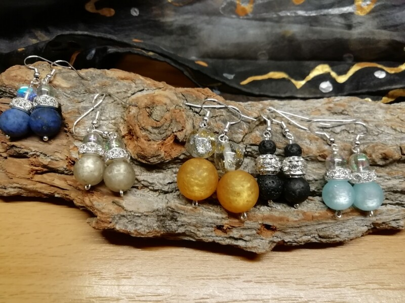 Earrings natural Stones - Handmade  by Corinna Kirchhof
