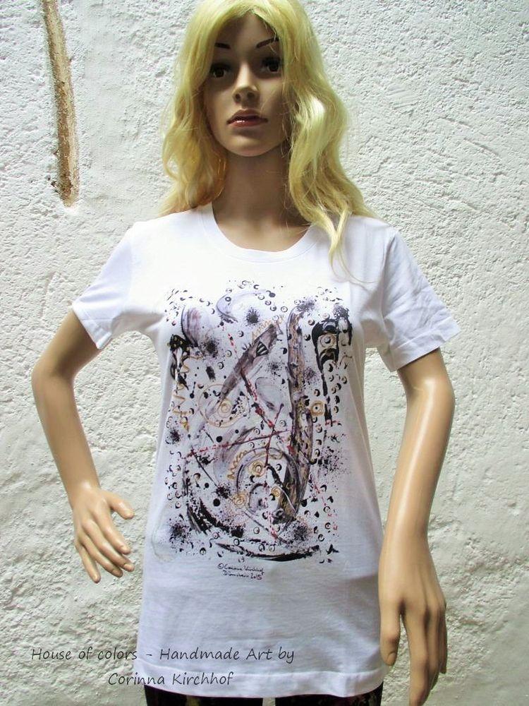 Motiv Weinglas / T-Shirt women white with short sleeve 4 XL - 6 XL / V-Neck - The Wine Glass