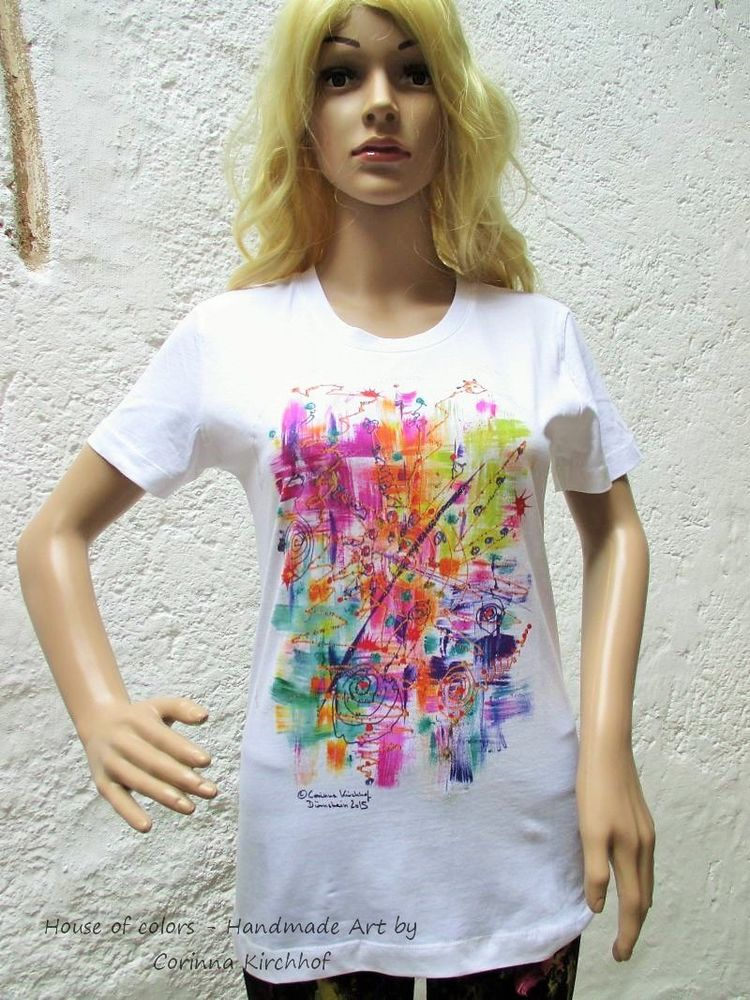 Motiv Gewischt / T-Shirt women white with short sleeve 4 XL - 6 XL / V-Neck - The Wiped