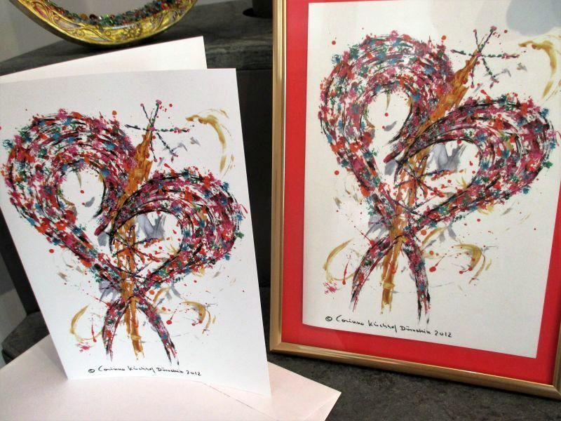 "Printouts from ""The Heart"" designed by Corinna Kirchhof"