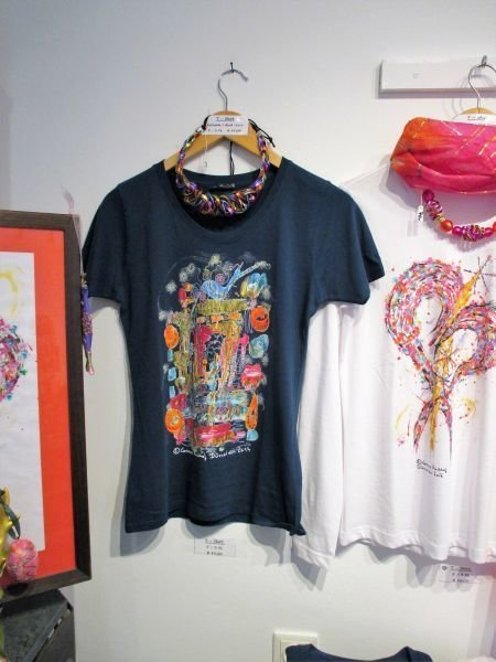 Motiv Fenster / T-Shirt women petrol with short sleeve S - 3 XL - The Window - Sale!!!
