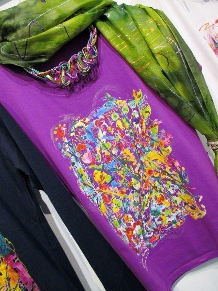 Motiv Stern / T-Shirt women purple  with short sleeve S - 5 XL - The Star