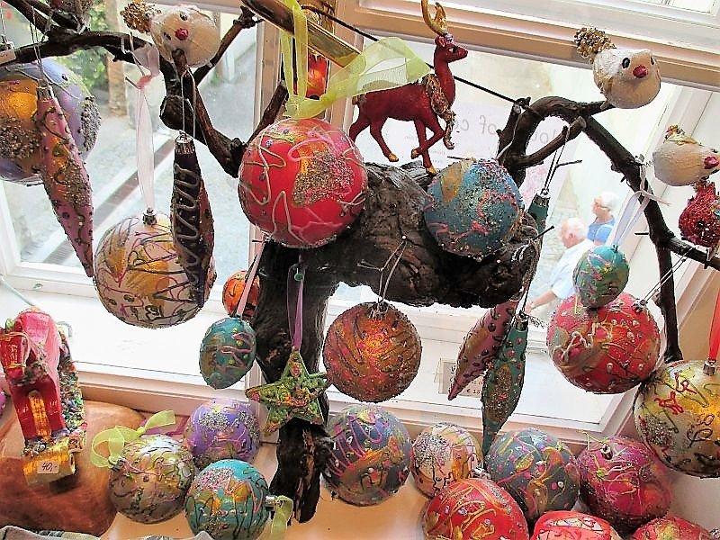 Christmas Tree Ornaments /  Balls big Hand painted by Corinna Kirchhof