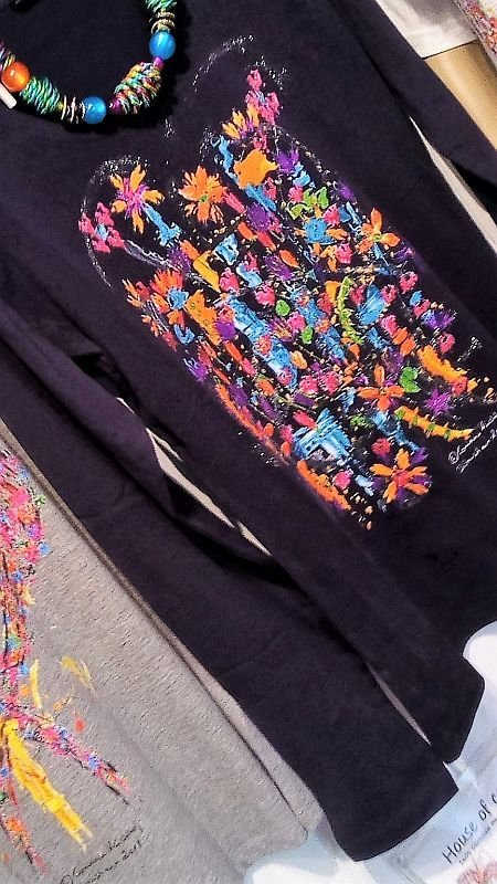 Motiv Sommer / T-Shirt women aubergine with long sleeve S - 3 XL - The Summertime