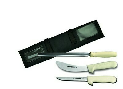 Dexter Russell Sani-Safe 4 Piece Hunting Kit with case