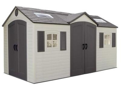 Высокопрочный сарай-гараж LifeTime 8x15DD