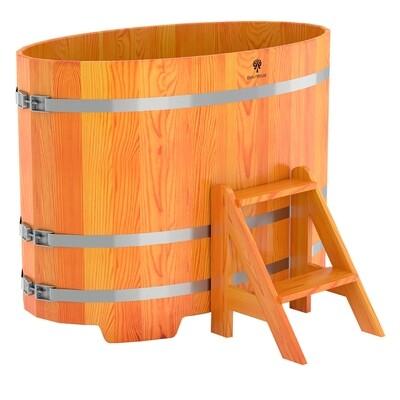 Деревянная овальная купель