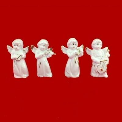 Фигурка Ангел с музыкальными инструментами 4 шт. в наборе