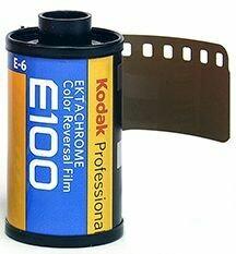 Kodak E100G 135-36 Ektachrome Professional Color Slide (Transparency) Film (ISO-100) expired 10/2022