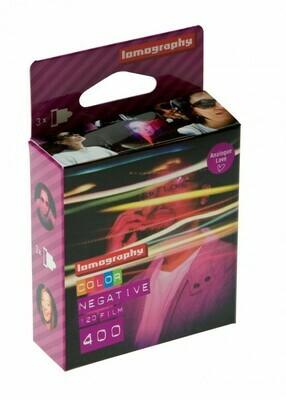 Lomography 400 Color Negative Film (120 Roll Film, 3 Pack) date 03/2022