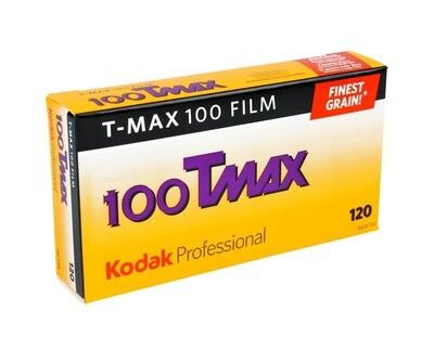 Kodak T-Max 100 Professional Black & White Negative (Print) Film (ISO-100) Format 120 - Pro Pak (5 Rolls)  date 12/2020