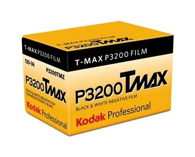 Kodak Professional T-Max P3200 Black and White Negative Film (35mm Roll Film, 36 Exposures) expired 12/2019