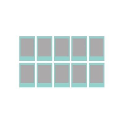 Fujifilm Instax Mini Sky Blue Frame Film Pack (10 Shots) 6,2x4,6 cm  expired 09/2018