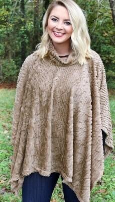 Winter Chill Faux Fur Poncho