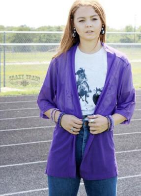 CRAZY TRAIN Purple Kimono