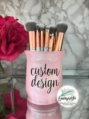 Custom Glitter Makeup Brush Holder