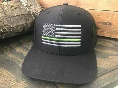 Green Line Snap Back Hat