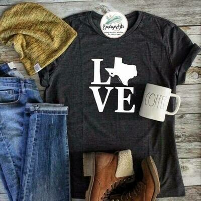 Texas LOVE - Alpine Heart Tee