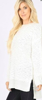 Ivory Popcorn Sweater