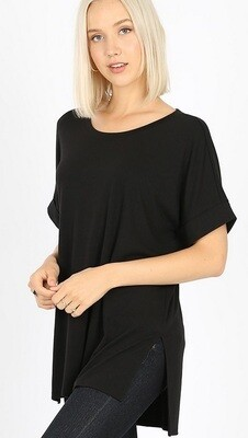 Black Cuffed Sleeve Tunic