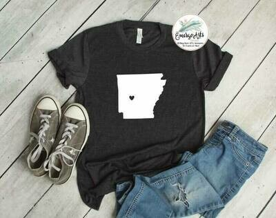 Arkansas - Heart Tee