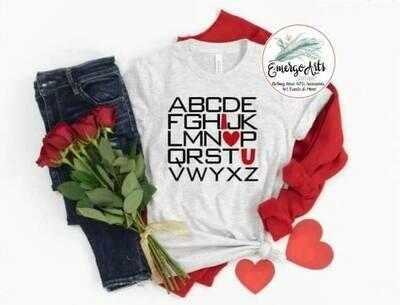 ABC I Love You Tee