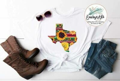 Texas Serape Sunflower Tee